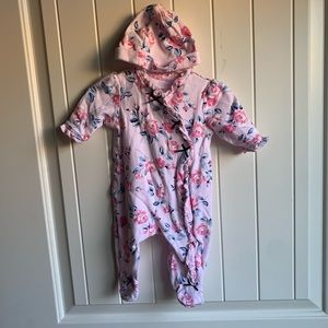 3 for $12 Little Me Baby Girl Floral Onesie